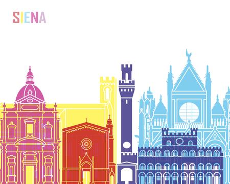 Siena skyline pop in editable vector file Stock Photo