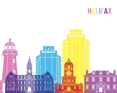 Halifax V2 skyline pop in editable vector file