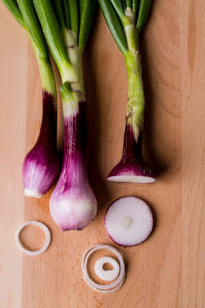 onions vegetables top view Banco de Imagens