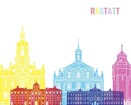 Rastatt skyline pop in editable vector file 스톡 콘텐츠