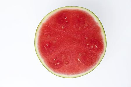A half of fresh watermelon
