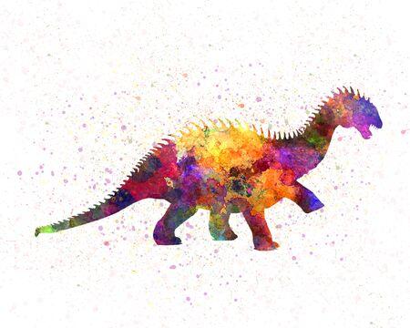 Barapasaurus  in watercolor