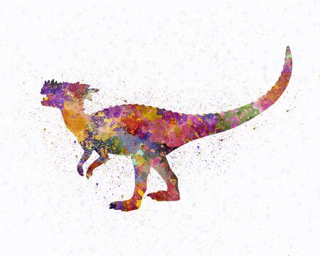 Dracorex dinosaur in watercolor 版權商用圖片