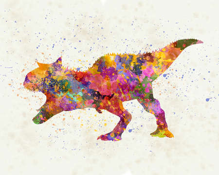 Barapasaurus in watercolor