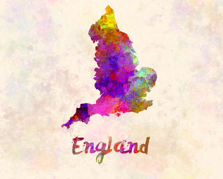 England map in watercolor