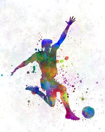 man soccer football player 05 版權商用圖片