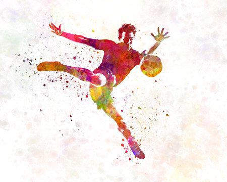 man soccer football player 08 版權商用圖片