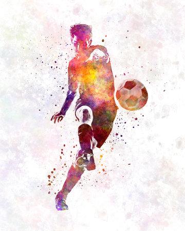 man soccer football player 10