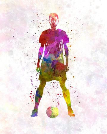 man soccer football player 11 版權商用圖片