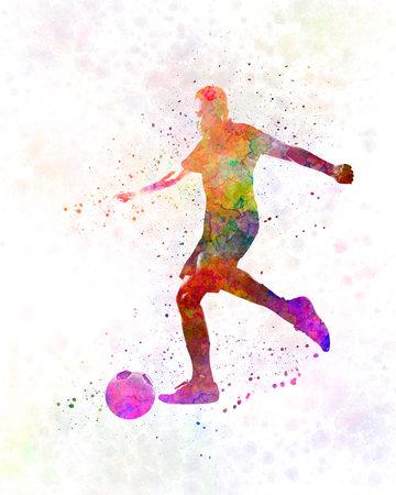man soccer football player 16 版權商用圖片