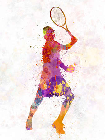 tennis player celebrating in silhouette 01