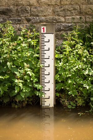 depth measurement: Village of Hovingham, North Yorkshire, England, the home of the Worsley family and the childhood home of the Duchess of Kent Stock Photo