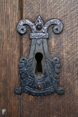 key hole: Old period key hole