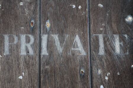 allowed to enter: Private wording on old oak door