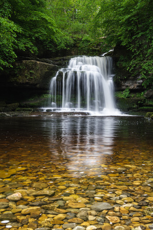 wensleydale: West Burton Cauldron Falls one of the waterfalls drawn by Turner during his tour of the North of England.