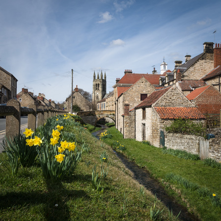 Helmsley is a market town and civil parish in the Ryedale district of North Yorkshire, England. Stock Photo