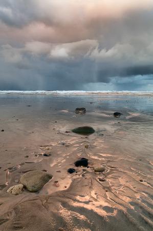 north yorkshire: North Yorkshire coast  winter storm