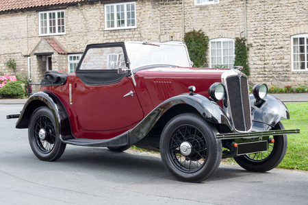 bonnie: The Morris Eight is a small car which was produced by Morris Motors from 1935 to 1948. It was inspired by the sales popularity of the similarly shaped Ford Model Y. The success of the car enabled Morris to regain its position as Britains largest motor ma