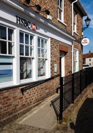 invalidity: HSBC Bank a small town bank  Village brach in rural north England, with wheel chair access
