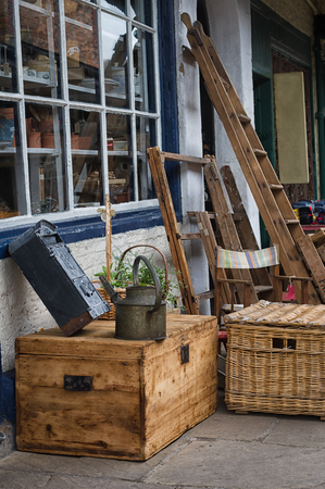 small articles: Bric-a-brac definition, miscellaneous small articles collected for their antiquarian, sentimental, decorative, or other interest. Stock Photo