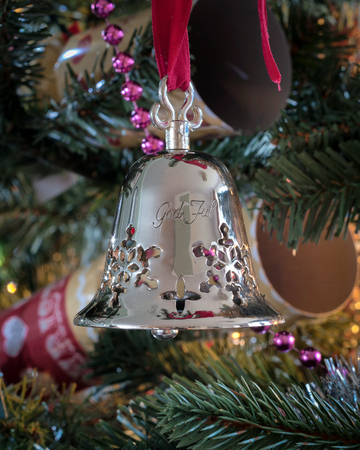 tradition: Tradition Christmas decorations - Silver bell from Norway