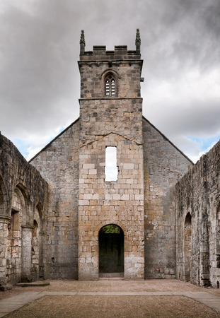 local landmark: Ruin of St Martins parish church, North Yorkshire, UK.