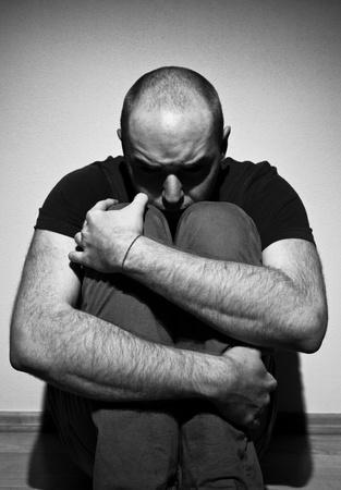 Depressed adult man  photo