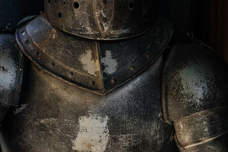 details of a medieval knight armor Stock Photo
