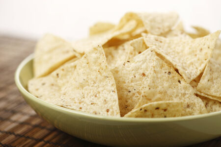 corn chips: A Bowl of corn chips Stock Photo