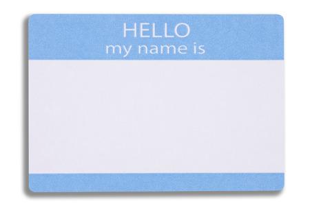 A Blank Name Badge Zdjęcie Seryjne