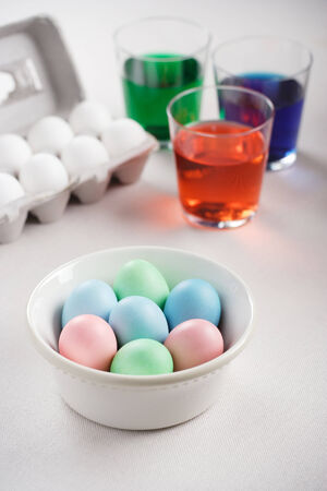 dyed: Dyed Eggs Stock Photo