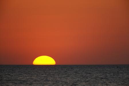 A sunset over Floridas Gulf Coast Stock Photo