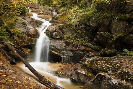 A waterfall in the White Mountains of New Hampshire