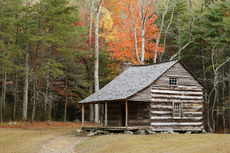 The Carter Shields Cabin in Cades Cove Tennessee