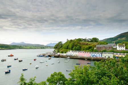 Morning view of Portree, Isle of Skye Stock Photo