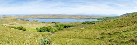 View of the northern part of Cape Rua Reidh with Loch An Draing in the middle, Scotland Stock Photo