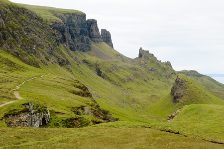 View on the beautiful rock formations of the Quiraing, Isle of Skye, Scotland Stock Photo - 11865516