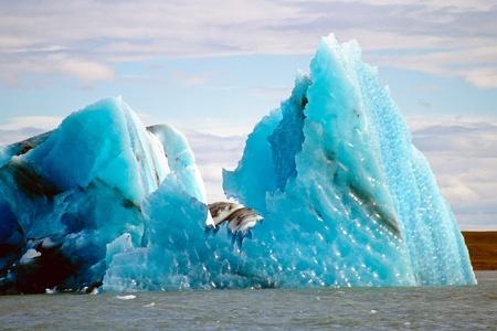 Icebergs in the glacier lake Jokulsarlon, Iceland
