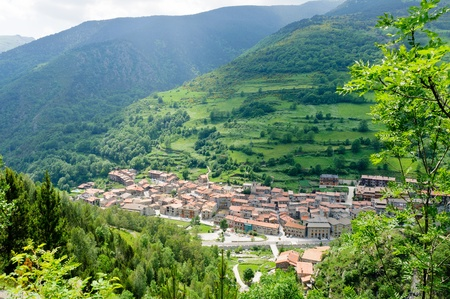 Mountain village in spanish pyrenees