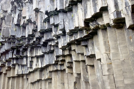 np: Hanging basalt columns near Svartifoss waterfall, Skaftafell N.P., Iceland