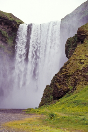 Skogafoss waterfall, Skogar, Iceland Stock Photo