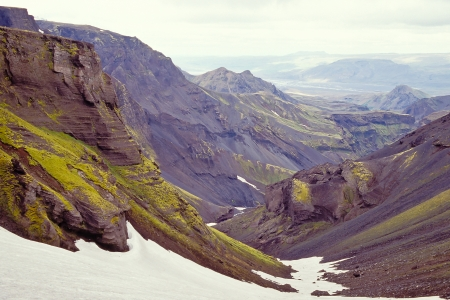 Icelandic landscape at the northern part of the Eyjafjallajokull, Iceland