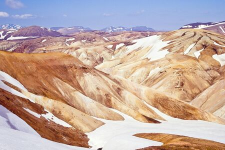 Rhyolite mountains in Fjallabak nature reserve (incl. Landmannalaugar), Iceland photo