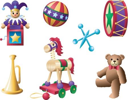 Retro Toys Stock Vector - 9523840