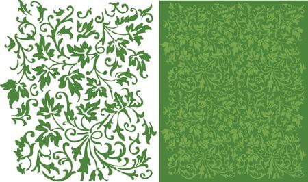 ivies: Ivy filigrana Pattern Vettoriali