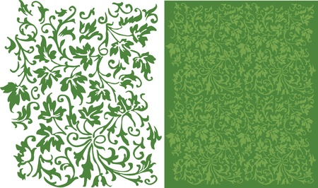 Ivy Filigree Pattern Illustration
