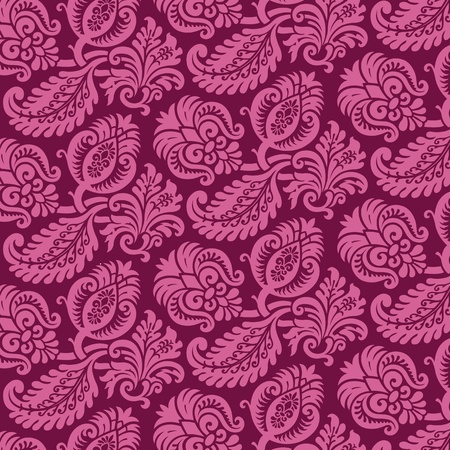 Victorian Damask Pattern Stock Vector - 9523848