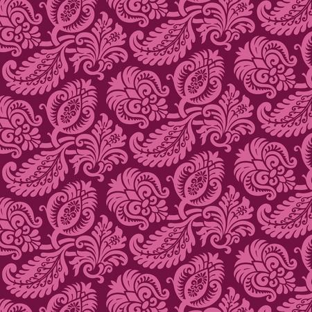 damast: Viktorianischen Damaris Muster Illustration