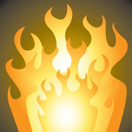 crackling: A cartoon depiction of roaring flames.