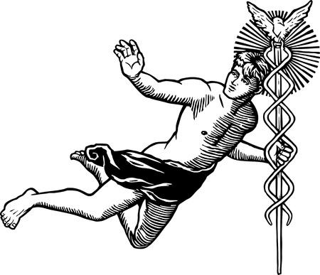 Grecki bóg Hermes Zdjęcie Seryjne - 9604548